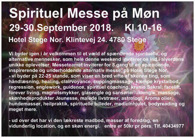 Magnethjerte tager til Spirituel Messe på Møn